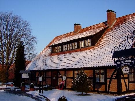 Kastanienhof bei Schnee
