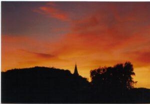 Friedhof Luhden Sonnenuntergang